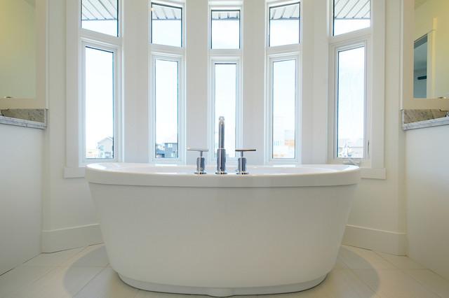 White Master Bath contemporary-bathroom
