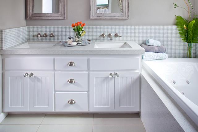 White Master Bathroom - Contemporary - Bathroom - other ...