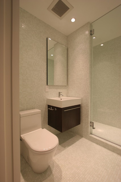 White Mosaic Bathroom modern bathroom