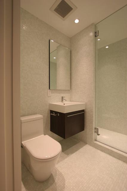 White Mosaic Bathroom modern-bathroom
