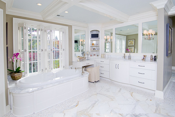 White Off White Bathroom Cabinetry Traditional Bathroom Other Metro By Architectural