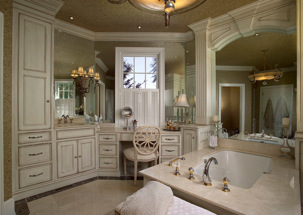 White Off Bathroom Cabinetry