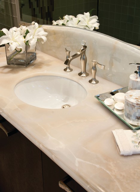 Ideal White Onyx Bath from VT Industries - Traditional - Bathroom  FF41