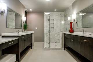 White Rock Lake View Contemporary Bathroom Dallas