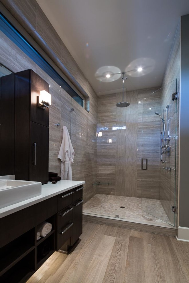 Inspiration for a contemporary bathroom remodel in Vancouver