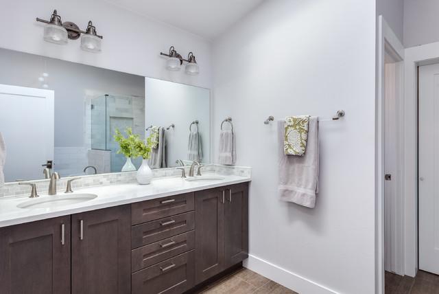 White Shaker Style Bathroom Renovation Project Denver Colorado Modern Bathroom Denver By