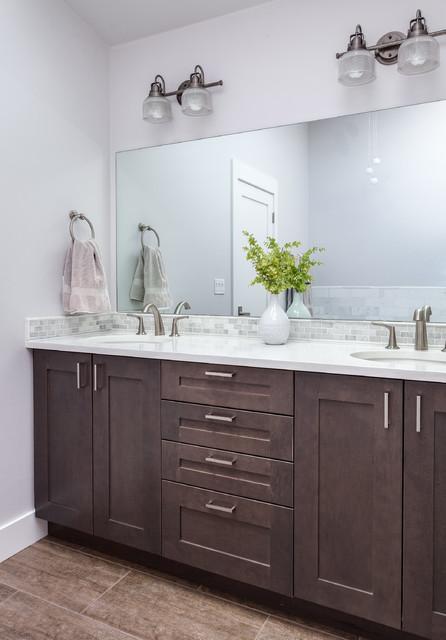White Shaker Style Bathroom Renovation Project Denver