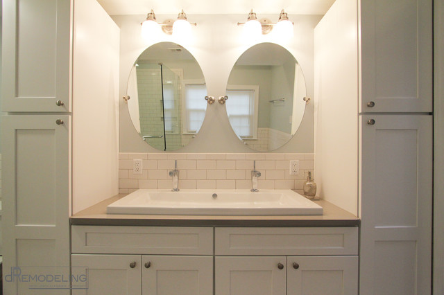 White Shaker Style Vanity Transitional Bathroom Philadelphia By Dremodeling