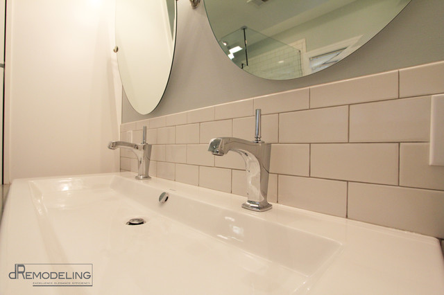 White Trough Bathroom Sink : All Rooms / Bath Photos / Bathroom