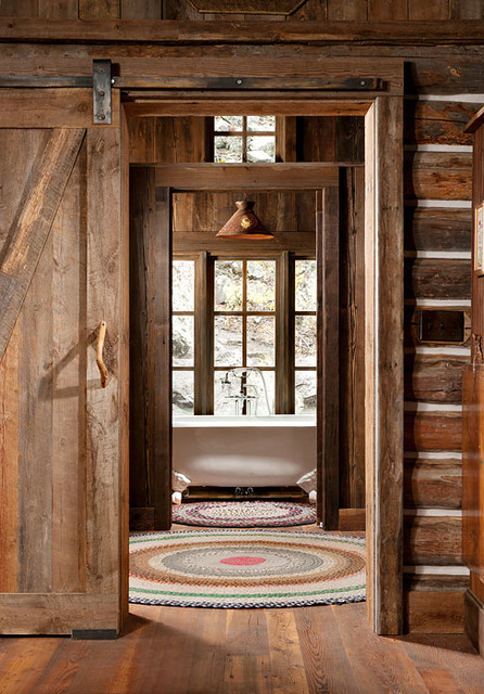 Whitefish, Montana Private Historic Cabin Remodel - Rustic - Bathroom - jackson - by Montana ...