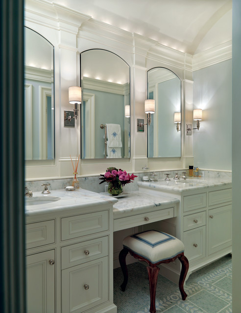 Transitional Bathroom Wall Sconces whitney 1 light wall sconce - transitional - bathroom - new york