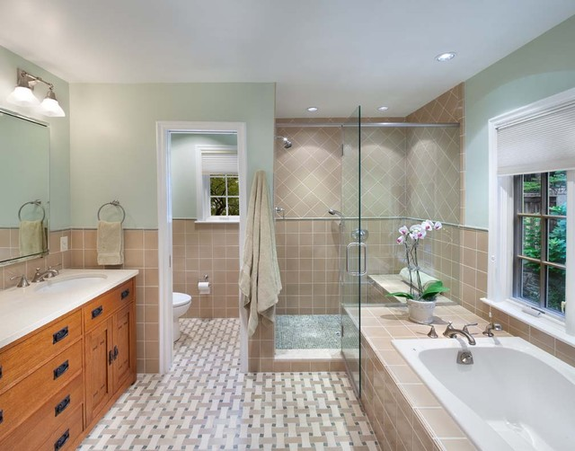 Whole-house remodel, Chevy Chase, MD traditional bathroom