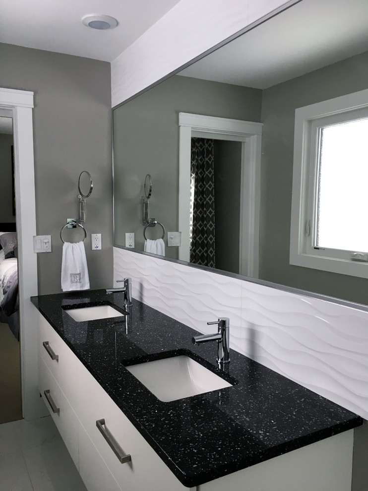 Whole Home Renovation - Contemporary - Bathroom - Calgary ...