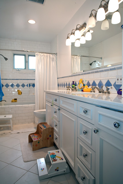 Whole house remodel and second floor addition in Encino mediterranean-bathroom