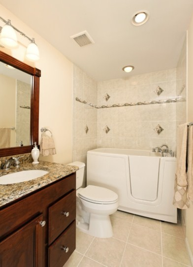 Whole house remodel incorporates universal design in - Universal design bathroom floor plans ...