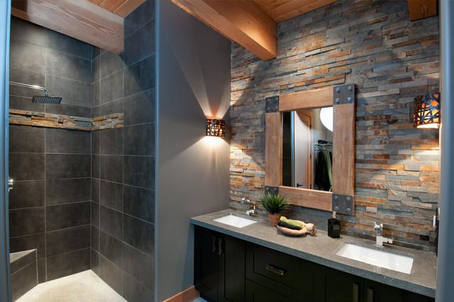 Wild Oceanside Home contemporary-bathroom