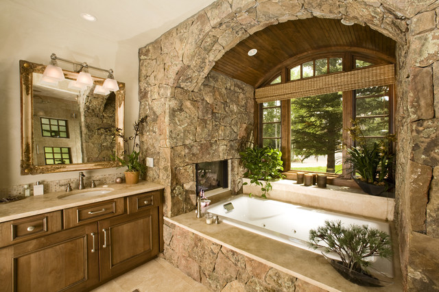 Wildflower Baths rustic-bathroom