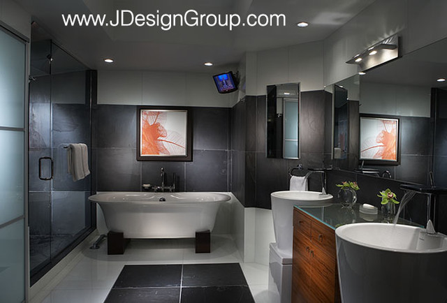 Willams Island - Miami - J Design Group Interior Designers Miami. modern bathroom