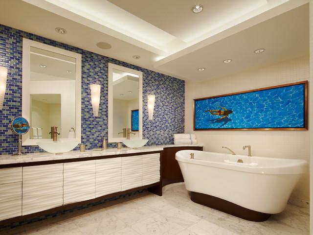 Williams Island - Contemporary - Bathroom - Miami - by Arnold Schulman Design Group