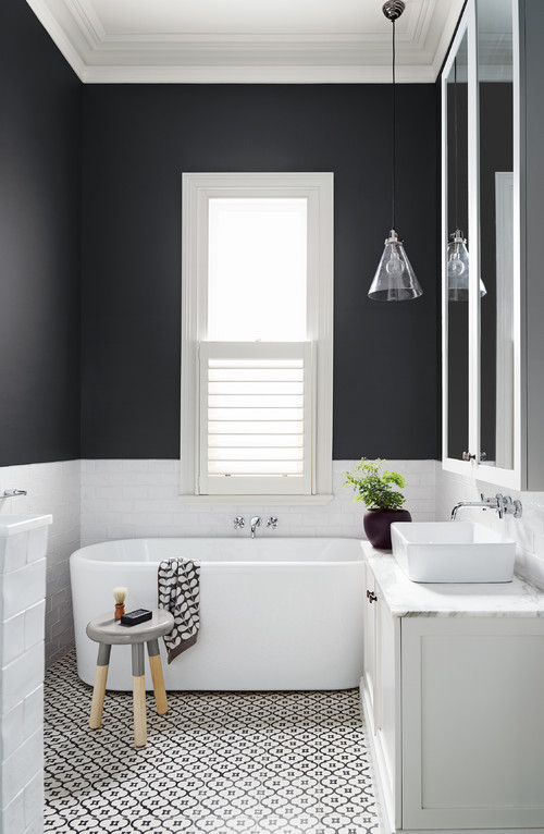 Ways Paint Can Transform Your Bathroom Dark And Bold