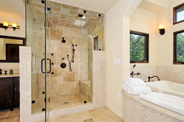Willow Glen Spanish Style House Mediterranean Bathroom