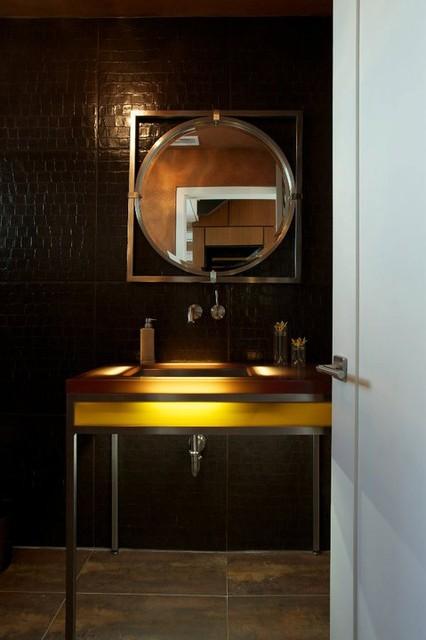 Willow: Hyde Park Bungalow Addition/ Remodel - Powder Bath contemporary-bathroom
