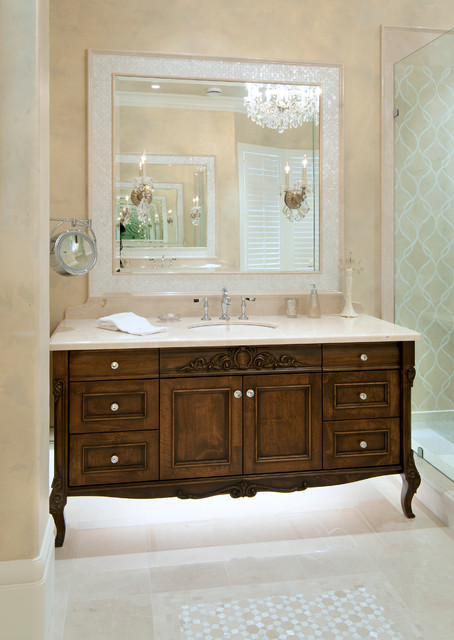 Winchester - Traditional - Bathroom - vancouver - by Old World Kitchens & Custom Cabinets