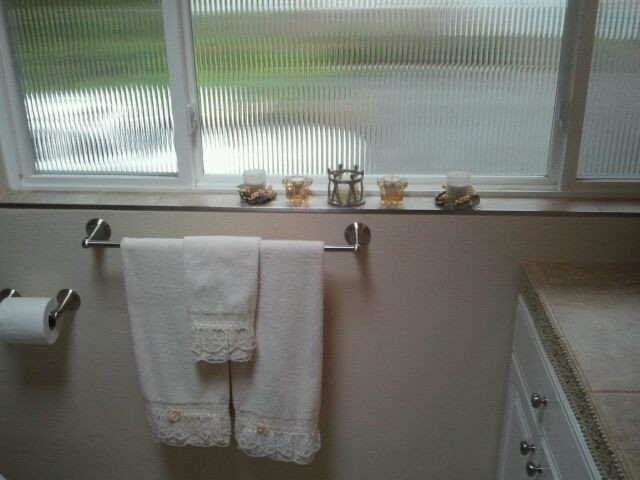 Window sill tile metal edging for Bathroom designs 8x7