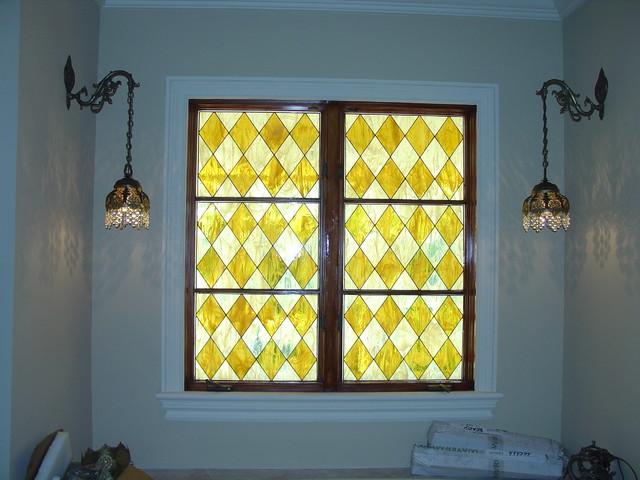 Window stained glass for bathroom modern bathroom for Stained glass bathroom window designs