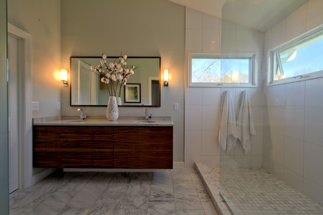 windows inside shower contemporary master bath contemporary bathroom indianapolis by