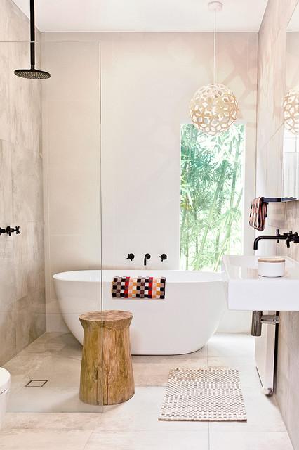 Pretty Peace contemporary-bathroom