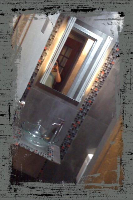 Wine cellar toilet contemporary-bathroom