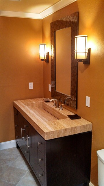 Wine Country Living Contemporary Bathroom Other