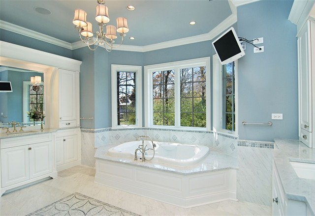 Winnetka Luxury Custom  Home traditional-bathroom