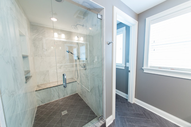Winnetka Walk To Town Renovation Traditional Bathroom Chicago By Debaker Design Group Ltd