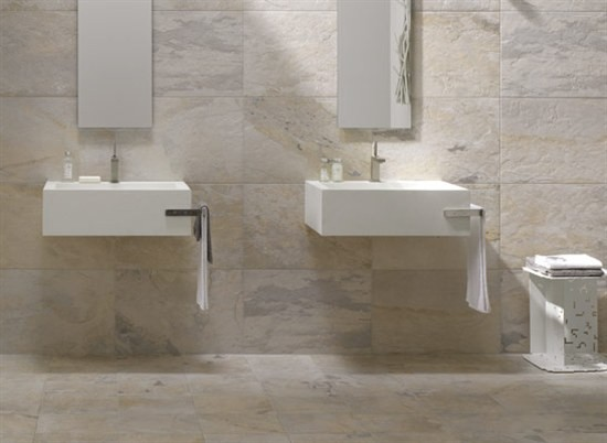 Winter Slate Tile Bathroom Bathroom Phoenix By