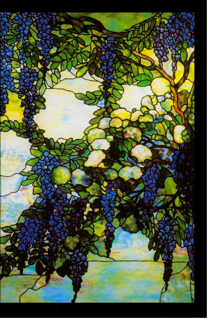 Wisteria Tiiffany Bathroom Stained Glass Bathroom Dallas By Stained Glass Inc
