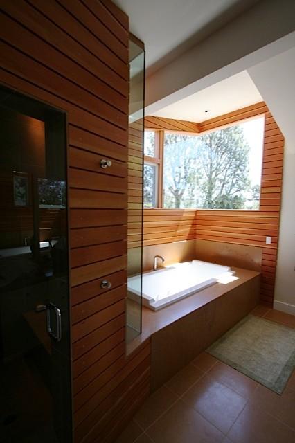 Wolf Residence modern-bathroom