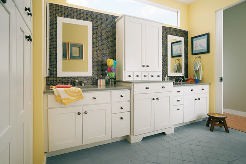 Is Mirror Custom Matched To The American Woodmark Vanity Cabinet