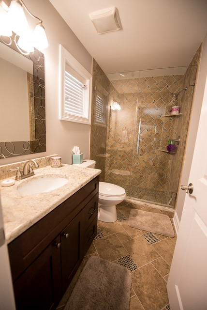 Wood dale traditional bathroom chicago by mg bros for Dale bathrooms