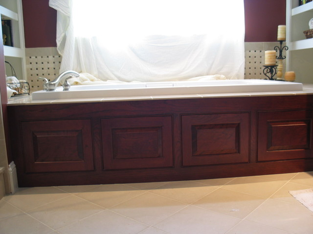 Cherry Jacuzzi Panels Traditional Bathroom Boston