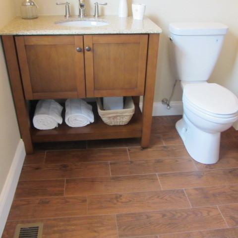 Wood tile Bathroom - Traditional - Bathroom - philadelphia - by On A ...