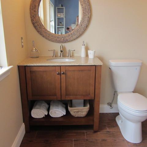 Wood Tile Bathroom Traditional Bathroom Philadelphia By On A Budget Decorating Llc