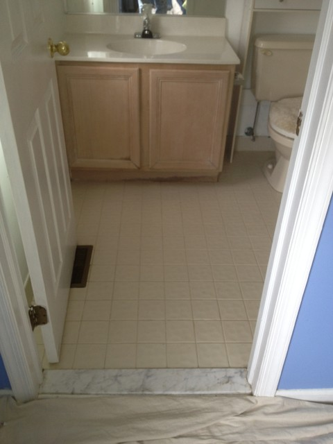 Wood tile bathroom traditional bathroom philadelphia for Bathroom tile philadelphia