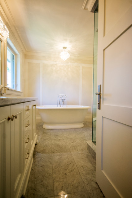 Woodbine Heights Blvd Custom Home Transitional Bathroom Toronto By Valentini Kitchens