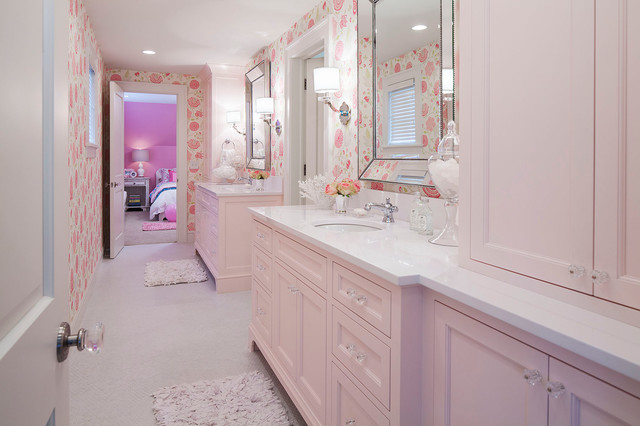 Superbe Woodland Road West Girls Bathroom Transitional Bathroom