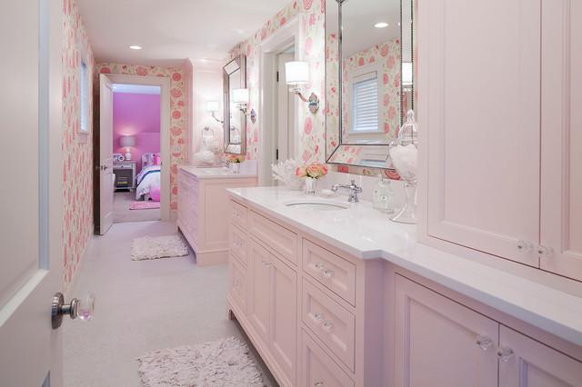 Woodland Road West Girls Bathroom Transitional