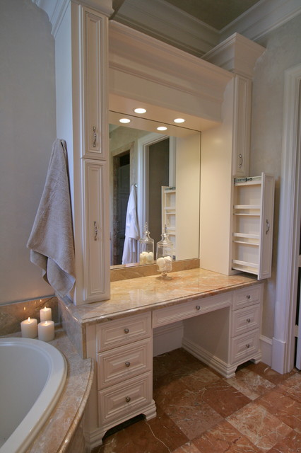 Woodlands Custom Home mediterranean-bathroom