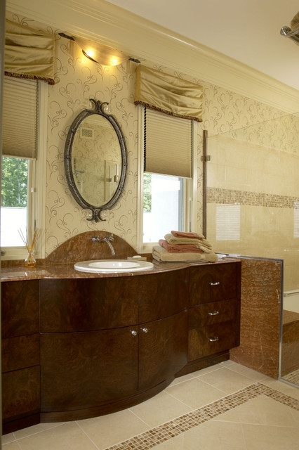 Woodley House Guest Bath Traditional