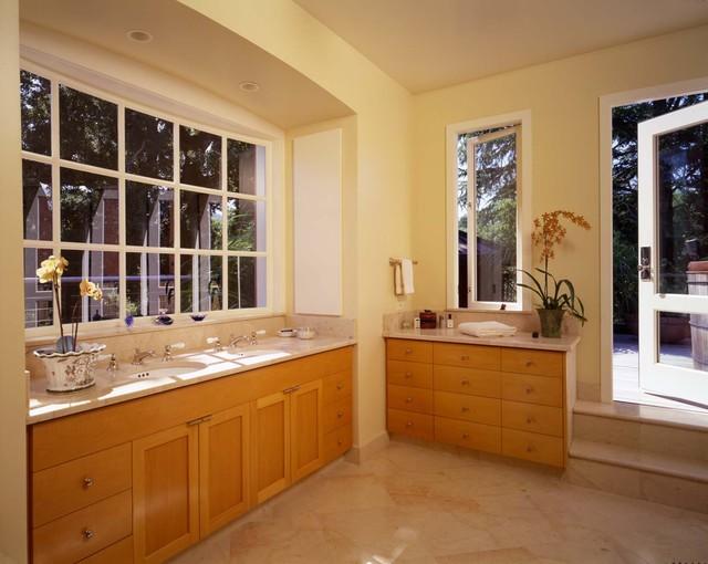 Woodside House transitional-bathroom